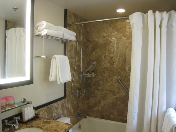 The Royal Hawaiian Hotel Review-Small bathroom