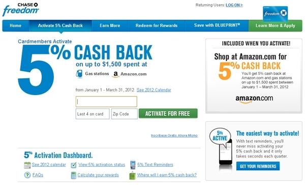 Maximize the Chase Freedom Amazon 5x Bonus