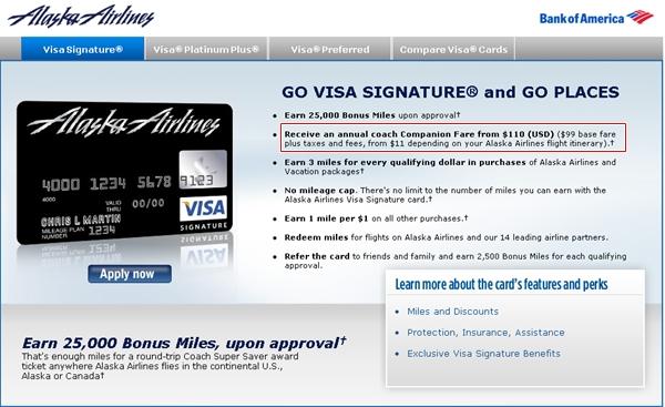 Alaska Airlines Visa Companion Ticket No More First Class