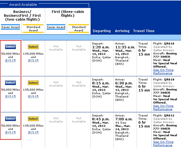 Best Qatar Awards Bookable with United Miles