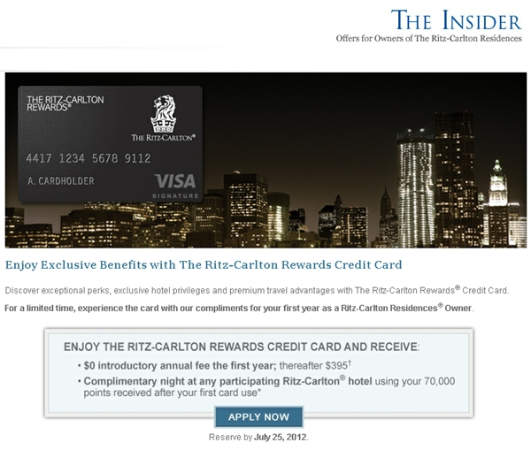 Marriott Rewards Premier Credit Card 70000