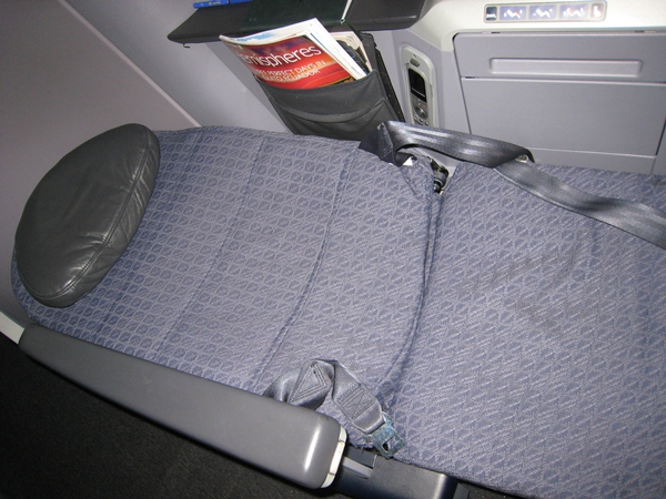 United BusinessFirst Lie Flat Seat