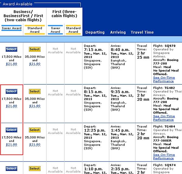 Thai Airways Business Class Review