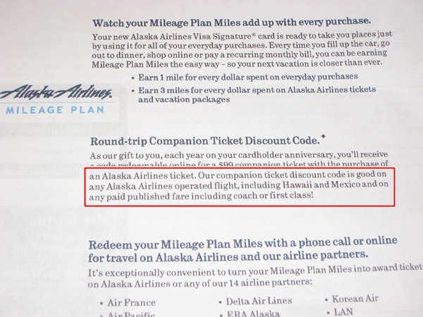 Alaska Airlines Visa Approved First Class Companion