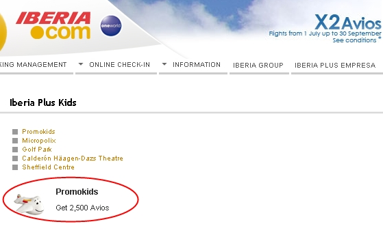 2500 Free Avios for Kids with Iberia Plus Kids Registration