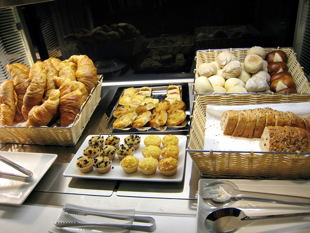Swiss Arrivals Lounge in Zurich Airport-Breads and Pastries