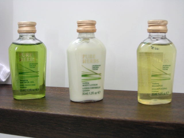 Swiss Arrivals Lounge in Zurich Airport - Pure Herbs Toiletries