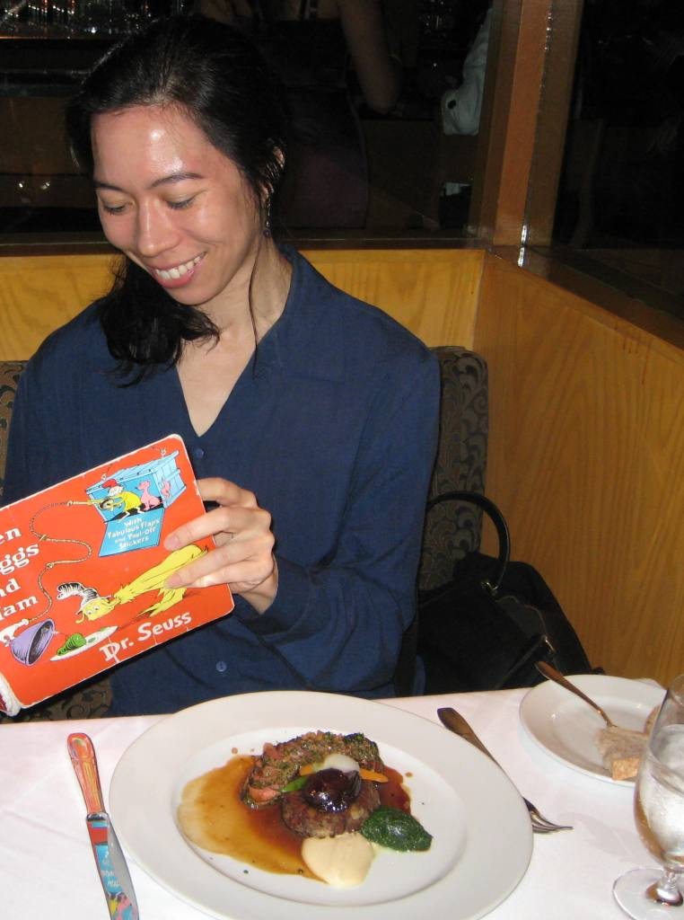 Reading Dr. Seuss at Gary Danko