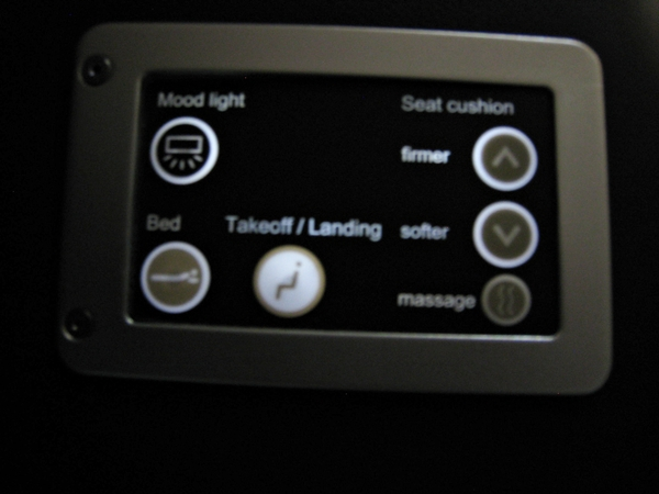 SWISS Airlines Business Seat Controls