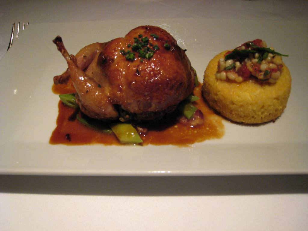 Quail stuffed with foie gras, Gary Danko, San Francisco
