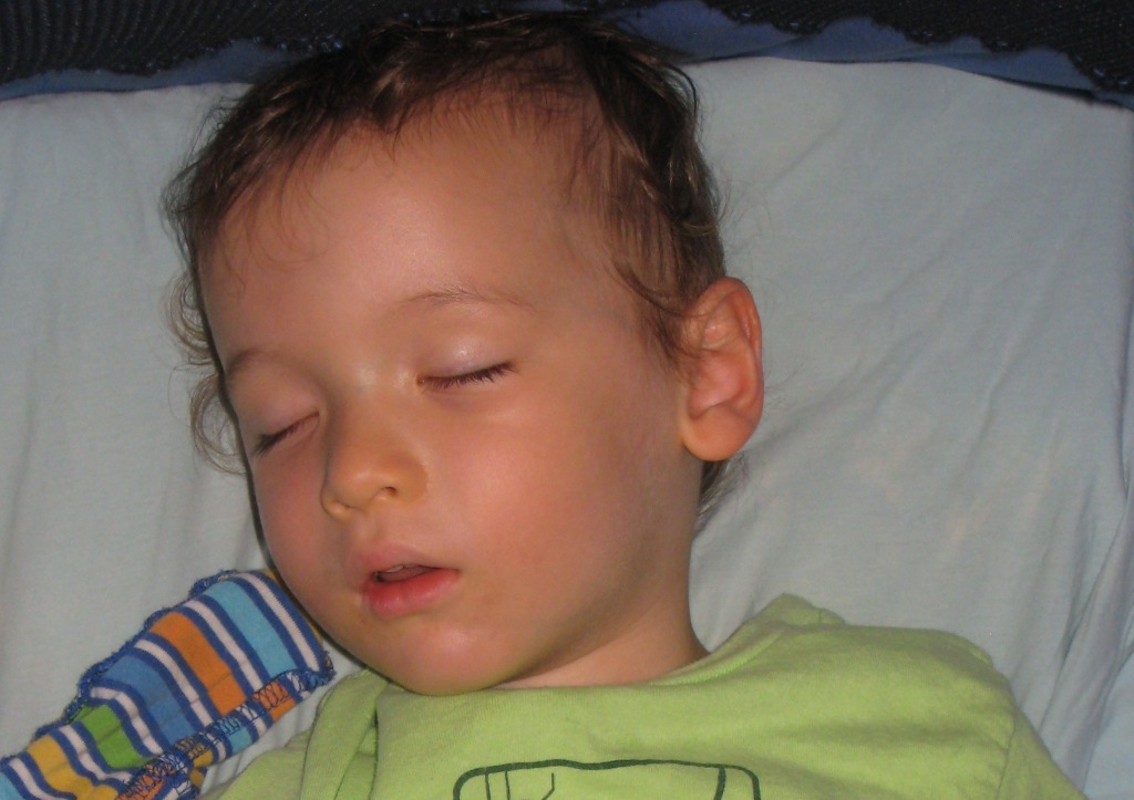 A nice nap before going out for dinner