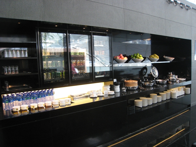 Buffet at The Wing, Cathay Pacific Business Class Lounge in Hong Kong Airport