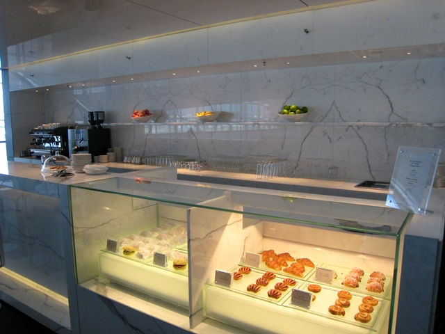 Pastries at Cathay Pacific The Wing Business Class Lounge