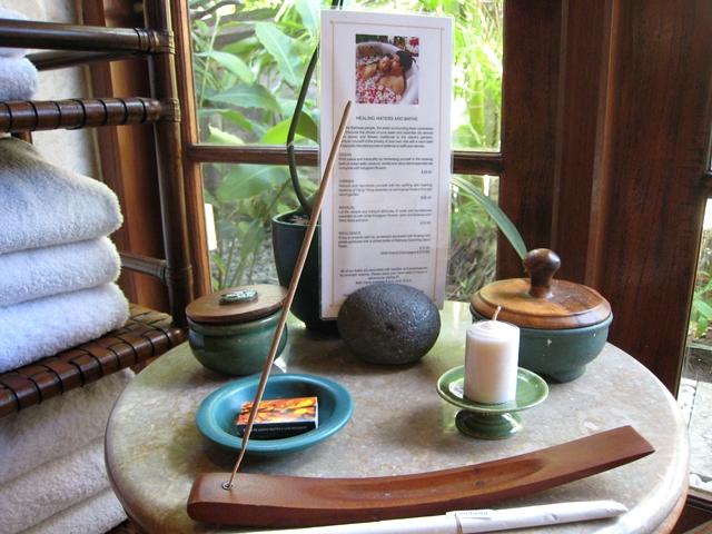 Four Seasons Bali Jimbaran Bay Review - Bath menu, candle and incense
