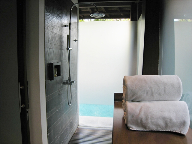 The Kayana Hotel Review - Rainfall shower