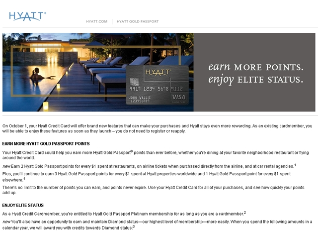 Hyatt Visa Card: New Bonuses and Elite Status Benefits