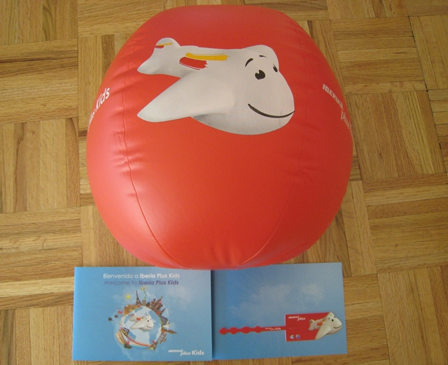 Iberia Plus Kids beach ball and luggage tag