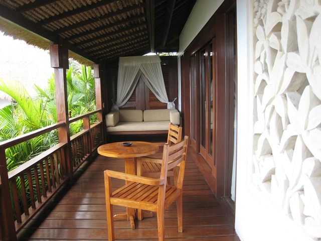 Batu Karang Review - Balcony with Day Bed