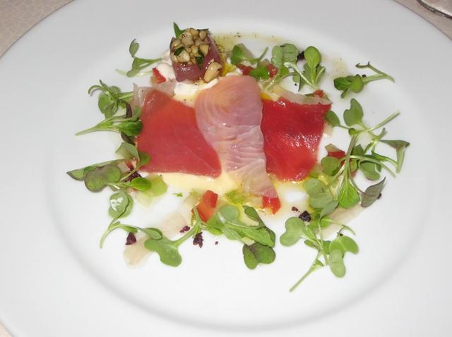 Bouley, NYC Restaurant Review - Carpaccio of Kampachi and Tuna
