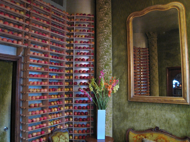 Bouley, NYC Restaurant Review, Vestibule with Apples
