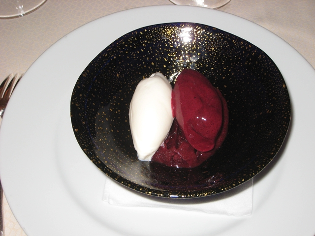 Bouley NYC Restaurant Review - Blueberry Sorbet