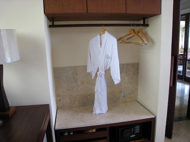 Komaneka at Bisma Hotel Review - Bathrobe and Storage Space