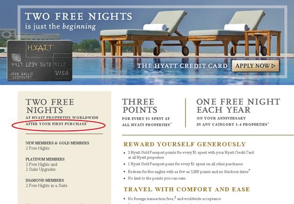 Hyatt Visa Offer Change-Last Chance for No Minimum Spend