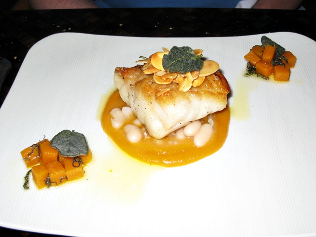 Amankila Review - Roast Grouper with Pumpkin
