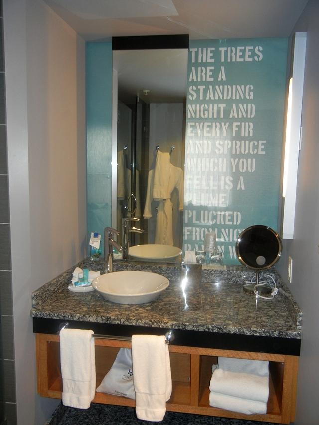 W Boston Hotel Review - Bathroom