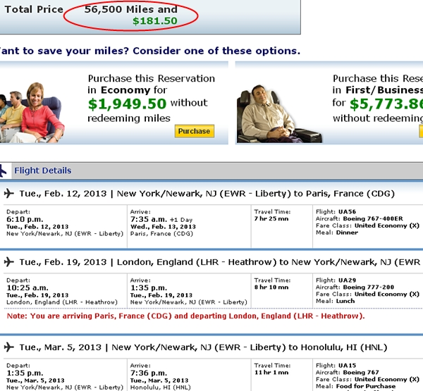 United Roundtrip to Europe and Free One Way for 48,000 Miles (20% Off Saver Awards)