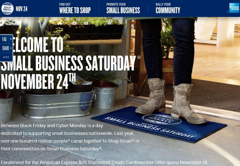 AMEX Small Business Saturday 2012