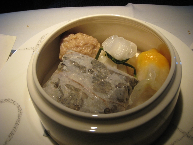 Cathay Pacific First Class Review: Dim Sum Breakfast
