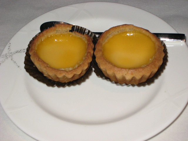 Airlines with Best First Class Food - Cathay Pacific First Class - Hong Kong Style Egg Tarts
