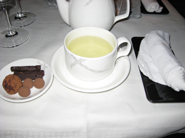Cathay Pacific First Class Review: Pralines and Green Tea