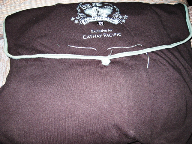 Cathay Pacific First Class Review: Shanghai Tang Pajamas