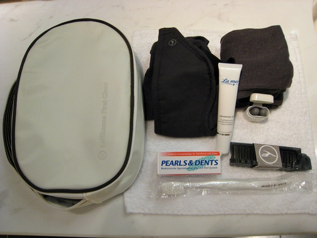 Lufthansa New First Class Review - Amenity kit