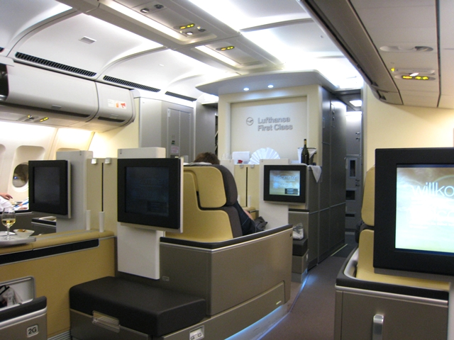 Lufthansa New First Class Review - Cabin