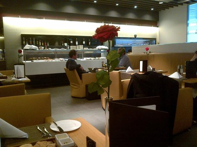 Lufthansa Munich First Class Lounge - Dining Room