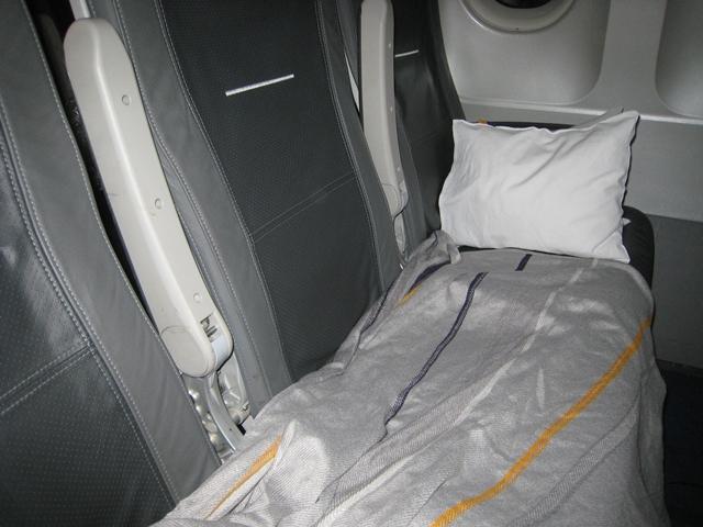 Lufthansa Business Class Review Short Haul Europe - Makeshift Bed
