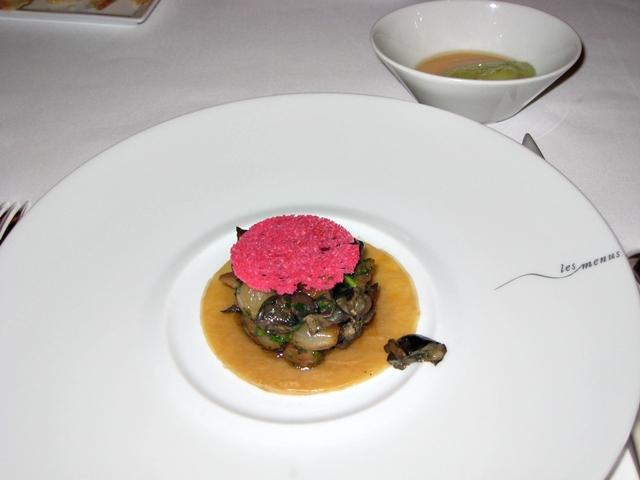 Les Menus par Pierre Gagnaire Lotte Moscow Restaurant Review - Mushroom Escargot Tart