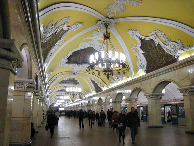 Getting Around Moscow by Metro-Subway Tips-Komsomolskaya Station