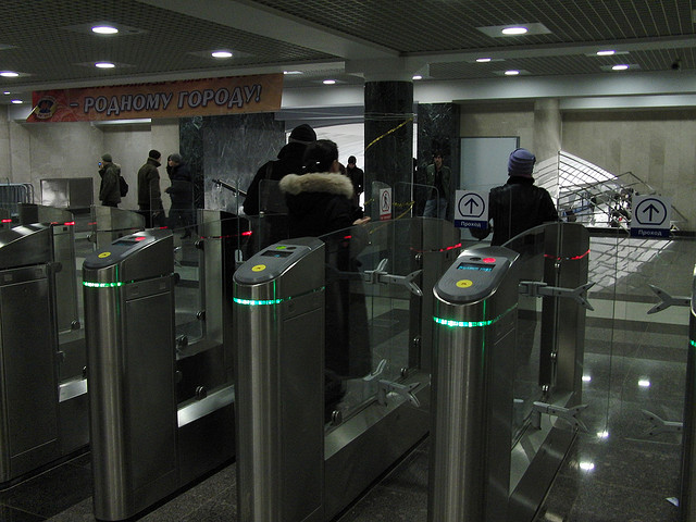 Getting Around Moscow by Metro-New Style Turnstiles