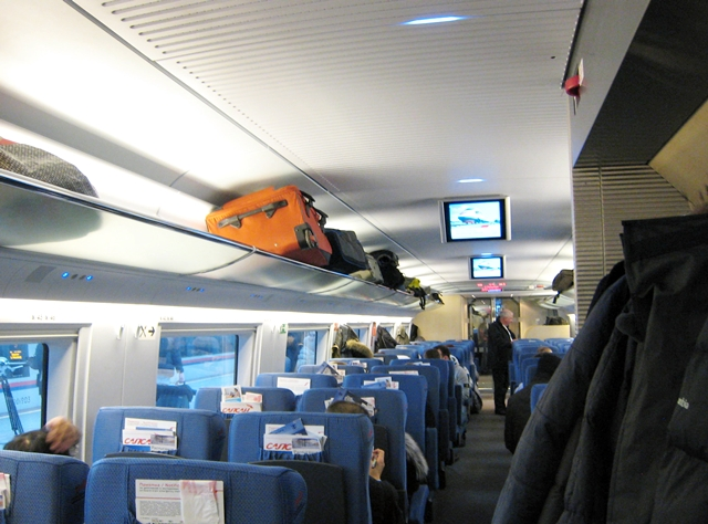Sapsan Train Moscow to St. Petersburg Review - Business Class