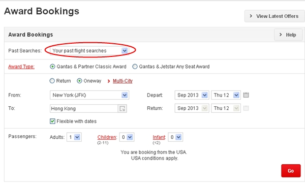 How to Find Cathay Award Availability Using Qantas.com - Start Award Search