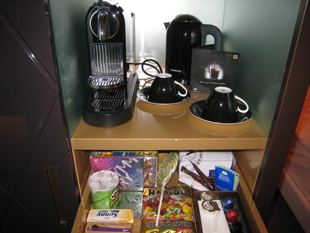 W St. Petersburg Hotel Review - Nespresso Machine