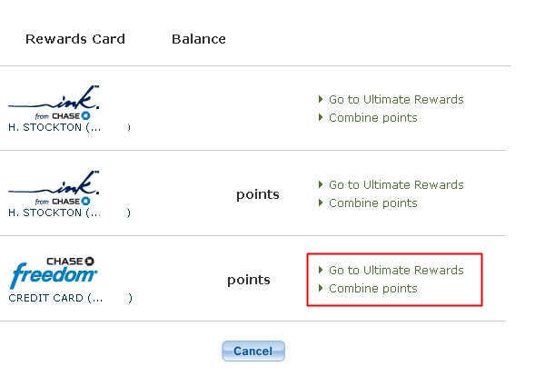 Activate Chase Freedom 5X for Q1 2013 - Combine Points with Ultimate Rewards Account