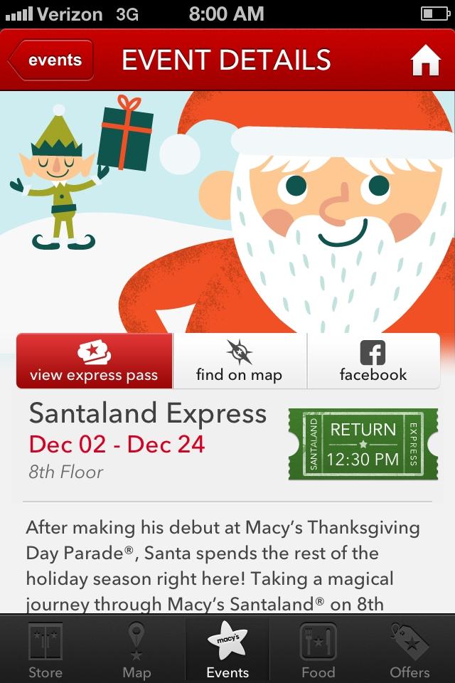 Macy's Santaland Express Pass Tips