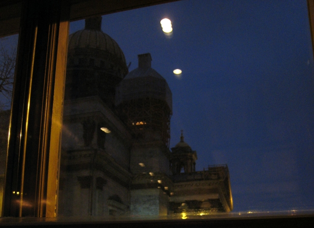 Four Seasons St. Petersburg - View of St. Isaacs Cathedral from Xander Bar