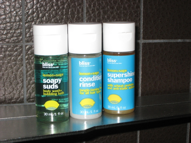 W New York Downtown Hotel Review - Bliss Spa Bath Amenities