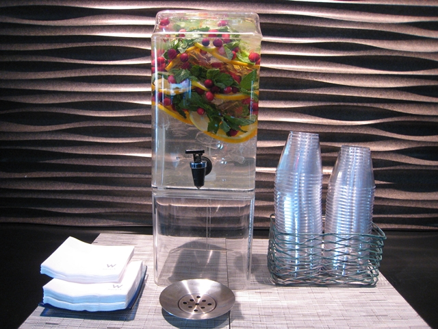 W New York Downtown Hotel Review - Flavored Water in Lobby